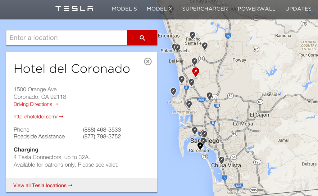 Tesla Map - great for SEO of your VR